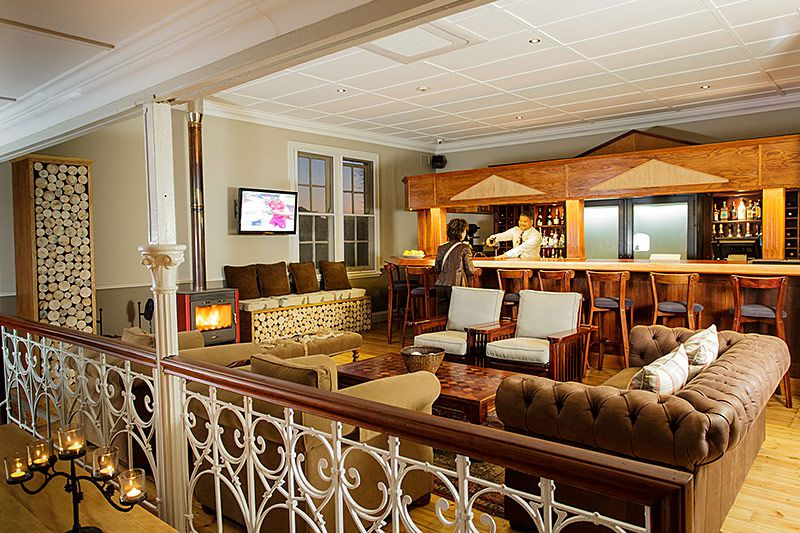 Lounge and bar area